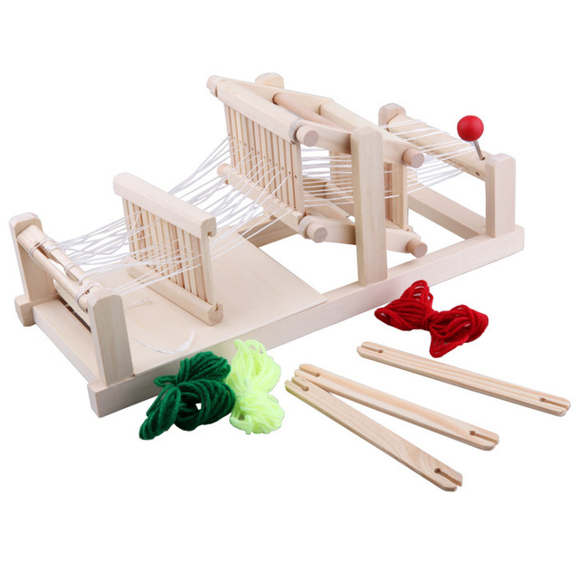 Mini woven cloth machine toy girl toys spinning wheel toy