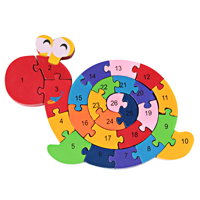 New Educational Toys Brain Game Kids Winding Snail Wooden Toys Wood Kids 3d Puzzle Wood Brinquedo Madeira Kids Jjigsaw Puzzles(China (Mainland))