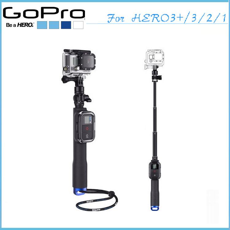 New Go Pro Camera Tripod Handheld Monopod Remote Pole With WIFI Remote Housing