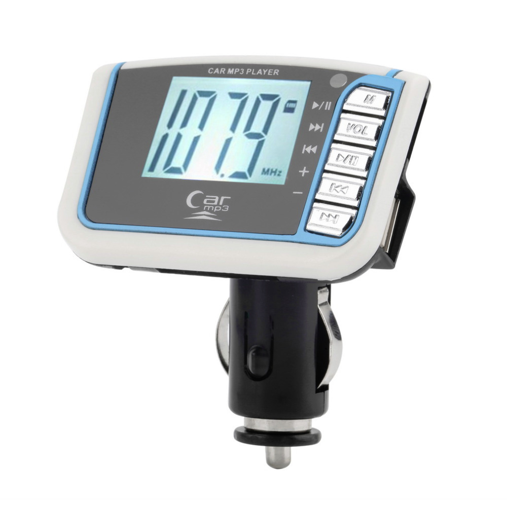 1pcs Wholesale Remove Control SD TF Card 1.44 inch LCD Wireless FM Transmitter Car MP3 Player(China (Mainland))