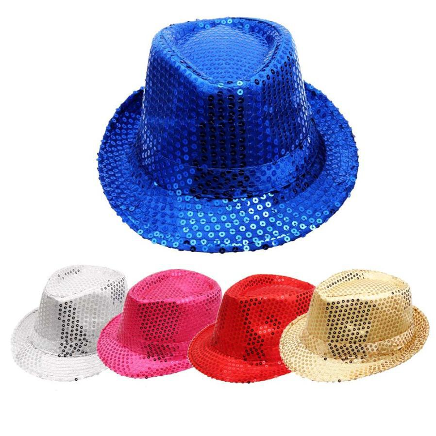 Practical Design Fancy Dress Costumes Paillette Hiphop Dance Show Stage Performance Sequin adult Jazz Hat free shipping(China (Mainland))