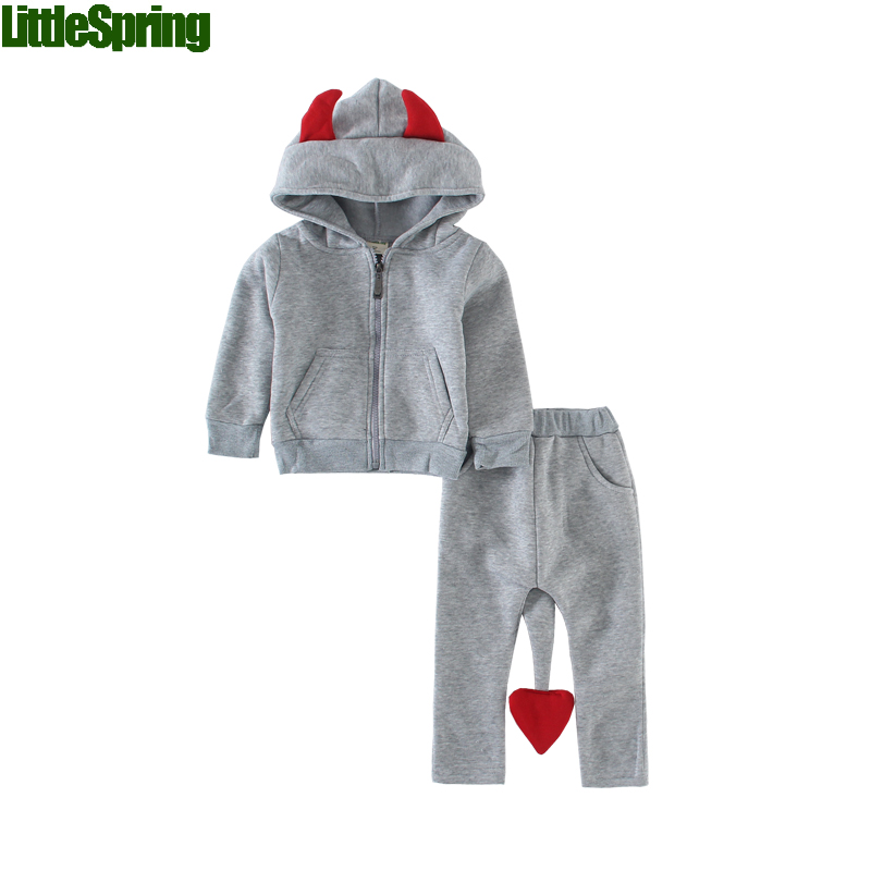 TS Retail New 2017 children christmas costumes baby clothing sets outerwear kids new year boys girls suit clothes - LittleSpring store
