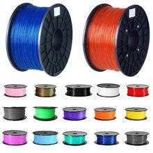 3D Printer Filament High Quality Orange Color Printer Supplies 1kg/2.2lb 1.75mm PLA Plastic for MakerBot RepRap Mendel