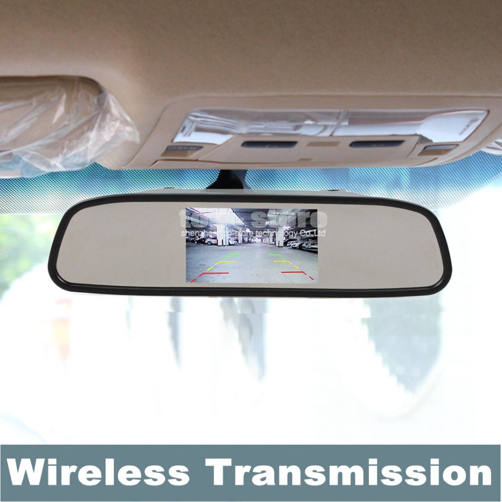Здесь можно купить  4.3 Inch Built-in Wireless Receiver TFT Car LCD Rear View Mirror Monitor + Transmitters + Free Car Charger  Автомобили и Мотоциклы