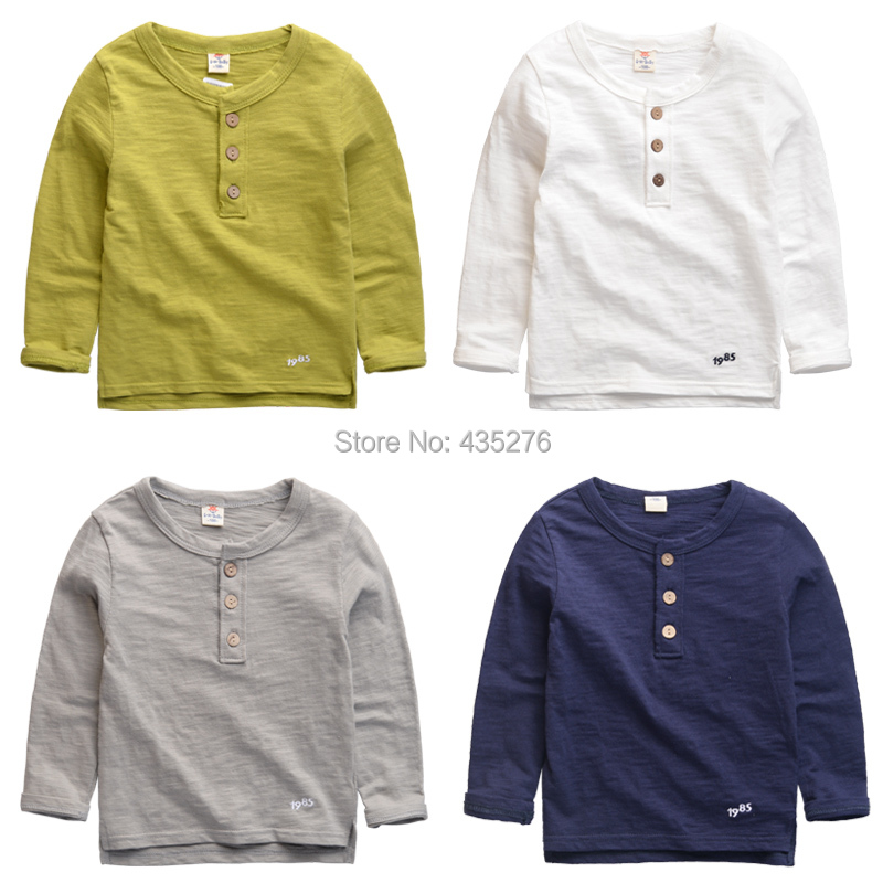 Korean fashion boys t shirt pure cotton pocket best for Good quality long sleeve t shirts
