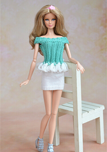 free shipping new arrival 10piece/lot  wholesales knitted blue dress set for 1/6 BJD barbie dolls<br><br>Aliexpress