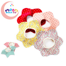 2016New Baby Accessaries Cotton Baby Bibs For Infant Toddler Baby Kids Girl Boy Flower Star 360 degree Round Neck Burp Cloths