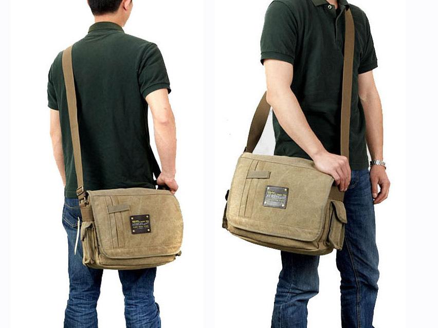 New Fashionable cotton canvas men bolsas shoulder bags Vintage ...