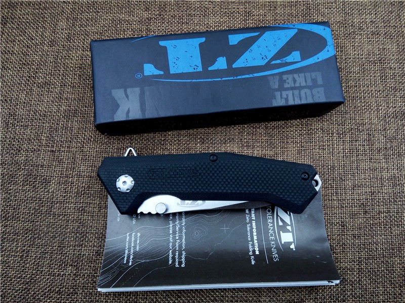 Buy KESIWO ZT0303S Flipper Folding Knife D2 blade G10 Handle outdoor tactical survival Knife utility camping hand tool cheap
