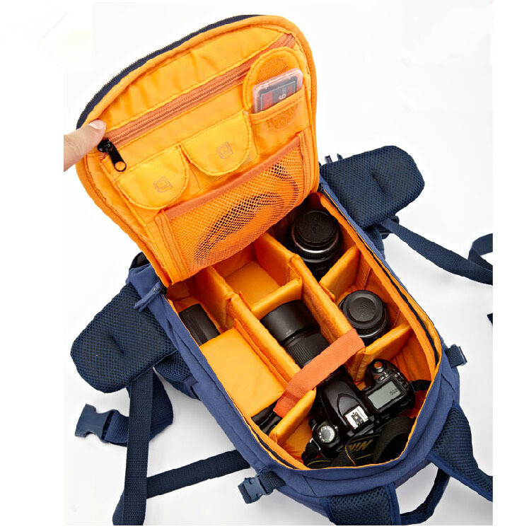 Free Shipping New Brand Professional Double-Shoulder Waterproof Nylon Digital DSLR Camera Bag for Canon & Nikon&Sony Bag(China (Mainland))