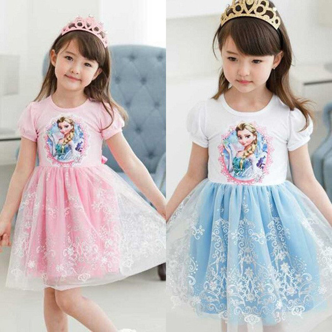 little baby girls elsa anna easter rapunzel dress customes kids clothes toddler children resale clothing lace fantasia infantile(China (Mainland))