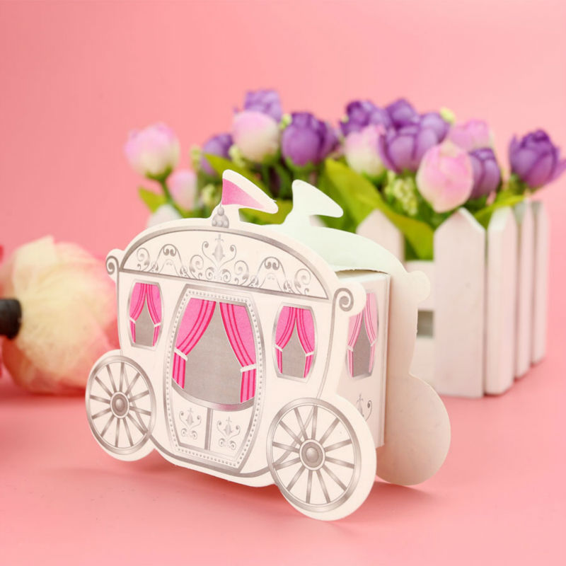 Wholesale 18pcs/lot Romantic Enchanted Carriage Favor Boxes(wedding candy box sweet box wedding party Engagement FAVORS(China (Mainland))