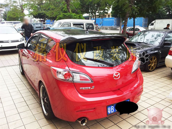 For Two-box MAZDA hippo1 3 mazda3 mps full carbon tail refires tailplane