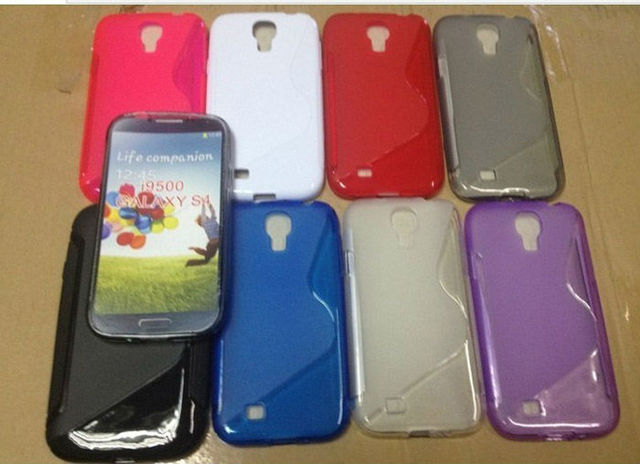 For Samsung Galaxy S4 S IV i9500 S Line TPU Cover Case, 500pcs/lot