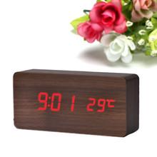 2015 New Creative Temperature Display Sounds Control Electronic Desktop LED Alarm Clock reloj despertador Smile