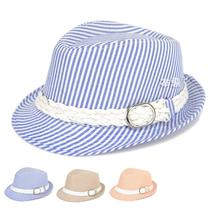 2015 Kids Boy Girl Hats Fedora Hat Children Chapeu Panama Hat Baby Sunhat Baby Stripe Print Jazz Cap Summer Dance Vintage Bones(China (Mainland))