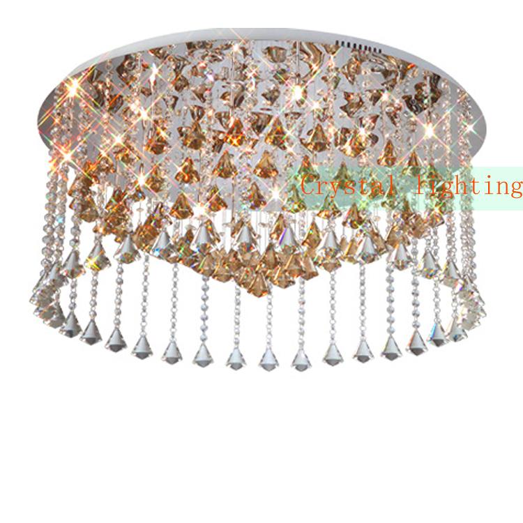 Luxuriant Crystal lighting Flush Mount diameter 80cm ceiling lamp Elegant Lighting modern ceiling lighting LED ceiling lights(China (Mainland))