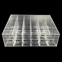 5Pcs Acrylic Lipstick Pen Storage Boxes Clear Display Showcase Stand Cosmetic Organizer Makeup Case Holder Container(China (Mainland))
