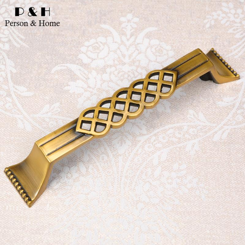 P&H Hardware Handle High-Grade Pure Copper Handles Chinese Antique Drawer Pulls Bedroom Furniture Handles In Type A1(China (Mainland))