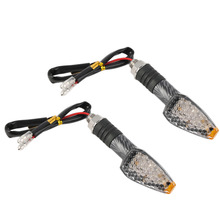 2/4 x Universal Motorcycle 10 LED Turn Signals Indicators Amber Light Sports For Your Motorcycle High Quality Free shipping(China (Mainland))