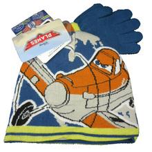 Plane Dusty Boy Kids Hat & Gloves set(China (Mainland))