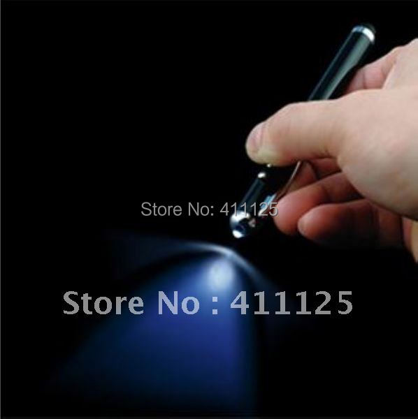 4 In 1 Stylus Pen Mobile Pen With light For Iphone iPAD 300pcs For Wholesale(China (Mainland))