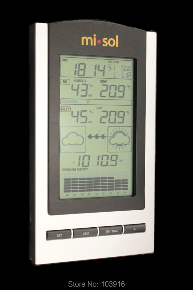 Гаджет  1 UNIT of wireless Weather Station with Outdoor Temperature and humidity sensor LCD display, Barometer None Инструменты