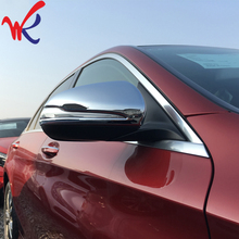 Buy WK Brand ABS Chrome Car Sticker Rear View Rearview Mirror Cover Trim Benz C Class C180 C200 C250 C300&GLC X253 200 250 300 for $34.99 in AliExpress store
