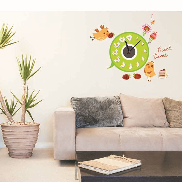 Charactizing a fine spring day 3D clock manufacturer supplies Sitting room wall wall clock CD clock(China (Mainland))
