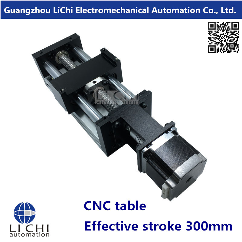 Precision CNC table Linear Modules effective stroke 300mm linear bearing &1* SFU1605 Ball screw & 1* Nema23 stepper motor(China (Mainland))
