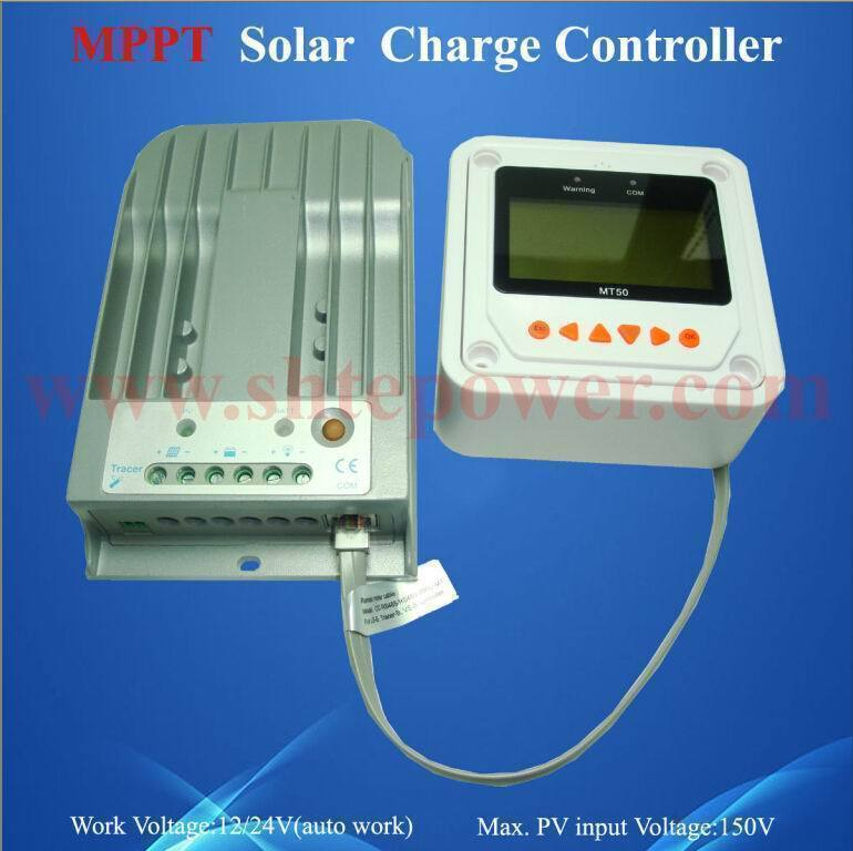 New Tracer2215bn mppt solar charge 12v 20a pv controller with ce(China (Mainland))