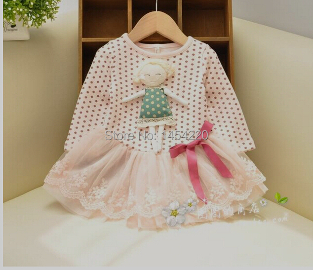 Lovely spring baby girl dresses tulle dots bow casual dress - Flofallzique Store store
