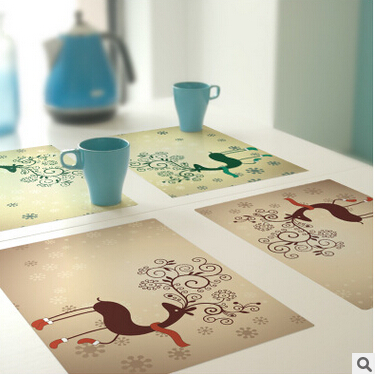 Free Shipping Creative fyy1 custom-made PVC Coaster Placemat waterproof table mat Non-Slip Table Setting Placemat,(China (Mainland))