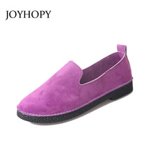 Buy 2017 New Women Faux Suede Flats Slip On Flock Casual Shoes Comfortable Round Toe Student Flat Shoes Woman Loafers AWF0025 for $11.48 in AliExpress store