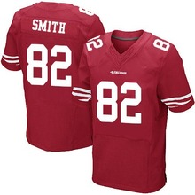 Men's #82 Torrey Smith Elite Red Team Color Football Jersey 100% Stitched(China (Mainland))