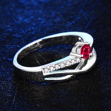 New CZ Diamond wedding rings for women ruby Jewelry 925 sterling silver ring anel feminino aneis
