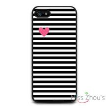 Heart With Black Stripes Protector back skins mobile cellphone cases for iphone 4/4s 5/5s 5c SE 6/6s plus ipod touch 4/5/6