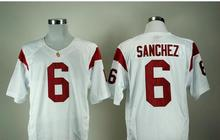 New Authentic USC Trojans College Football 43 Troy Polamalu Jerseys 2 Robert Woods 6 Mark Sanchez 32 OJ Simpson 7 Matt Barkley 3(China (Mainland))