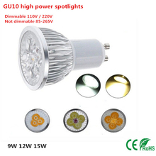 Buy 1PCS GU10 LED Bulb 9W 12W 15W 110V/220V /85-265V GU10 Spot Light Bulb LED Lamp White/Warm White LED Light for $1.85 in AliExpress store