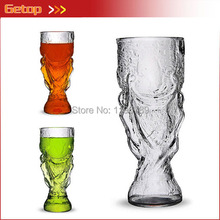 2014 Brazil World Cup Beer Glass Cup Wine Wishkey Cup Trophy Creative Personalized Glass Cup Drink  Mugs 300ML Free Shipping(China (Mainland))