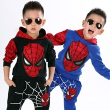 New 2 Styles Blue & Black Children Spiderman Home Wear Halloween Boys Spiderman Costume Carnival Party Clothing Set Sports Suits