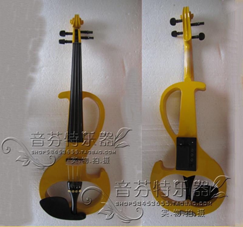 Electro-acoustic violin electronic violin electric violin yellow box -