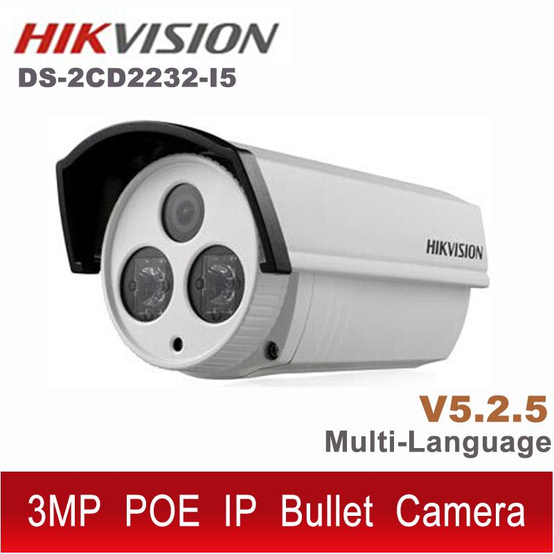 Original Hikvision DS-2CD2232-I5 IP camera 3MP V5.25 English POE cam CCTV 1080P outdoor ds-2cd2232 ds 2CD2232- i5 ds-2cd2232-i(China (Mainland))