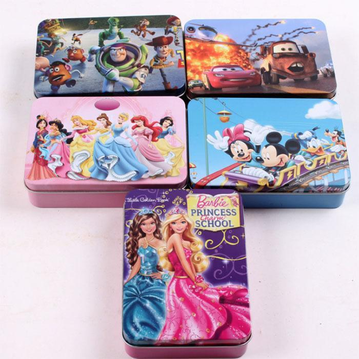 Free shipping, 2014 new arrival children's cartoon jigsaw puzzle nursery toys 100 pcs/box large boxes of educational toys,(China (Mainland))
