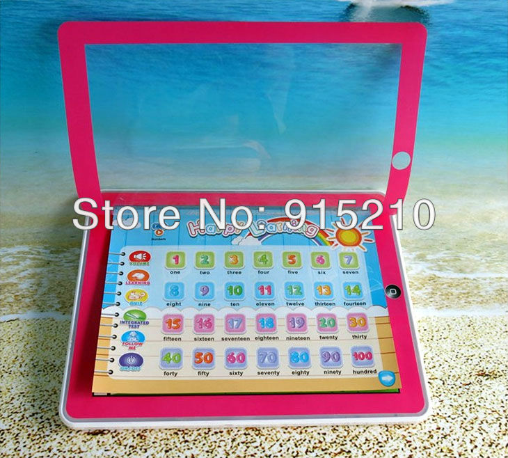 11-IN-1 Toy Pad English Learning Tablet for children,YPad laptop computer educational baby toys 2 Colours Mixed,150PCS/Lot(China (Mainland))