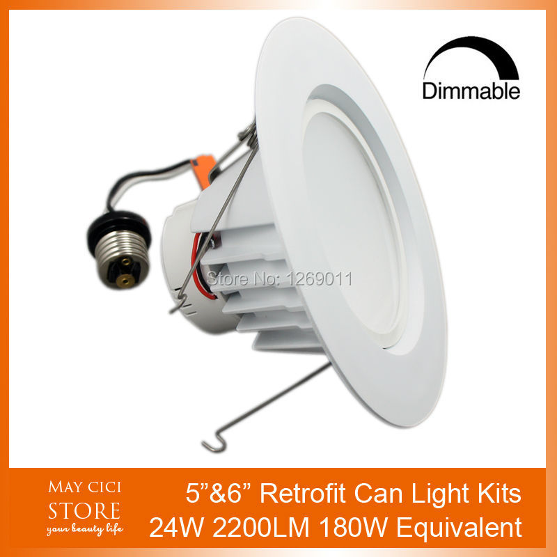 24W LED Recessed Downlight E26 E27 Retrofit with Reflector 5 and 6 Inches for Home Commercial Lighting 2Years Warranty<br><br>Aliexpress