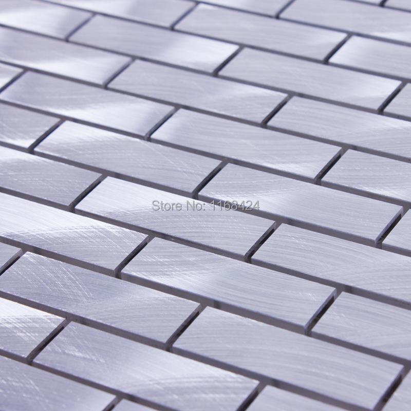 Aluminum alloy metal mosaic tiles EHM1058 for kitchen baclesksplash bathroom floor wall mosaic free shipping<br><br>Aliexpress