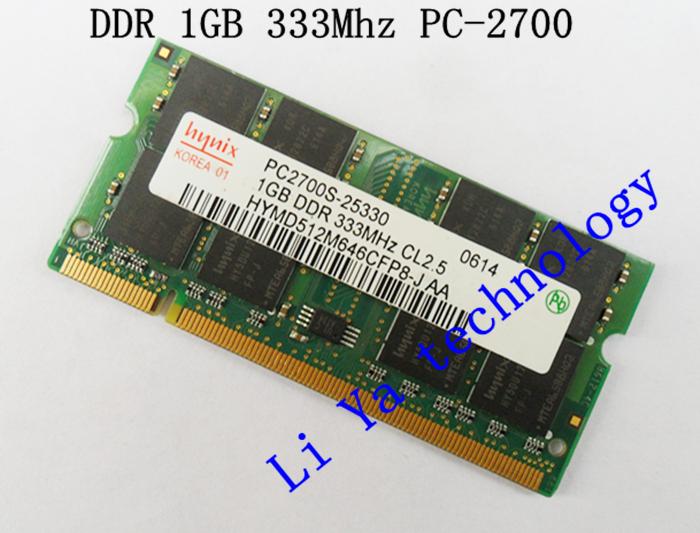 HYNIX 1GB PC2700 DDR333 200PIN SODIMM ddr 333Mhz Laptop MEMORY 200-pin SO-DIMM RAM DDR Laptop Notebook MEMORY(China (Mainland))