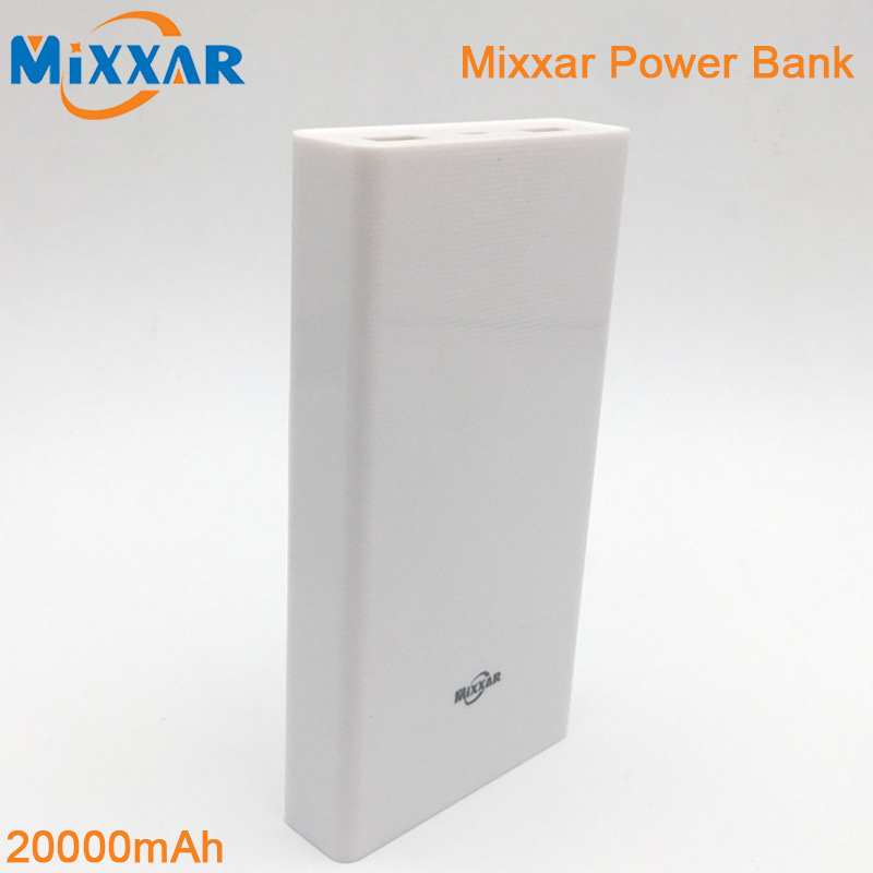 RU Mixxar Original Portable 20000mAh Power Bank External Battery Pack Charger Powerbank For iPhone Samsung Phone iPad(China (Mainland))