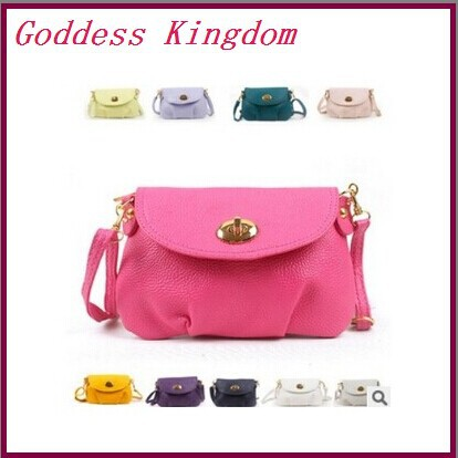 2015 new Style best sale Exports mini candy color women shoulder bags messenger bag Women leather Bags QF053(China (Mainland))